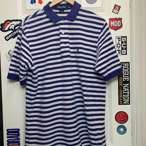 Vintage Polo Golf striped polo